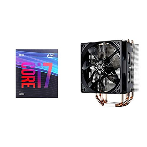 Intel Core i7-9700F Desktop Processor 8 Core Up to 4.7 GHz Without Processor Graphics & Cooler Master Hyper 212 Evo CPU Cooler w/ 4 Continuous Direct Contact Heatpipes, 120mm PWM Fan, Aluminum Fins