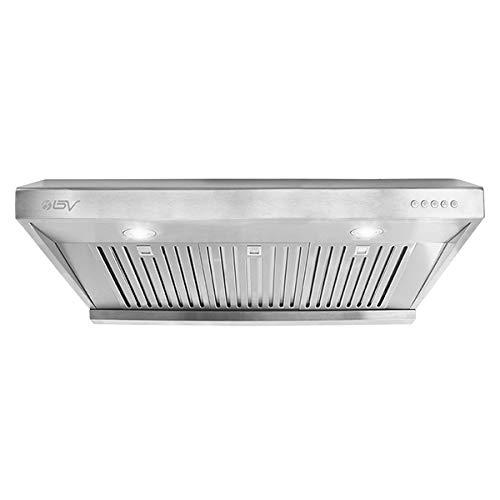 BV Range Hood - 36 Inch 750 CFM Under Cabinet Stainless Steel Kitchen Range Hoods, Dishwasher Safe Baffle Filters w/LED Lights, Ducted Kitchen Exhaust Fan Hood (36 Inch - 750 CFM/RH-01-36)