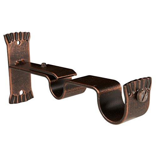 Riel Chyc 5437120 Support Double Fer forgé 28 – 20 Noir/cuivre