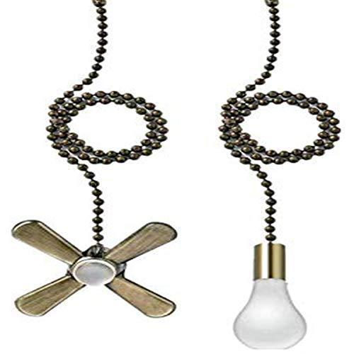 AIIGOU Juego de cadena para ventilador de techo – 13.6 pulgadas con conector de cadena de bolas incluidos, luz y ventiladores