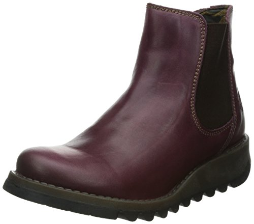 FLY London Damen Salv Chelsea Boots, Violett (Purple), 40 EU