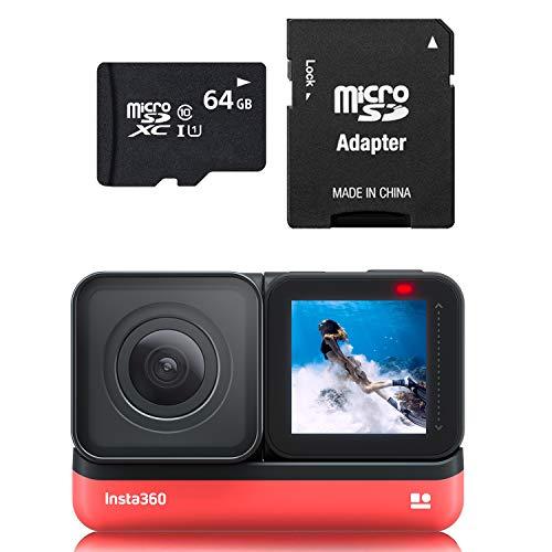 Insta360 ONE R 4K 64GB Edition UK met 4K Wide Angle Lens Mod plus 64GB Memory Card (UK Voorraad en Ondersteuning)