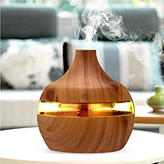 Essential Oil Diffuser, 550ml Oil Diffuser with 4 Timer, Aromatherapy Diffuser with Auto Shut-Off Function, Cool Mist Humi...