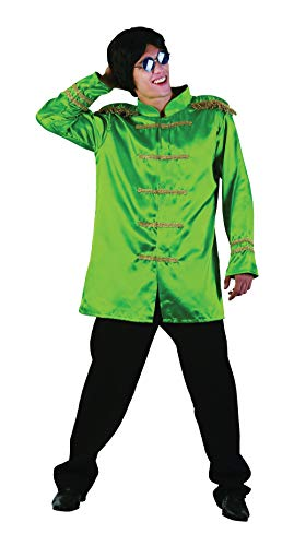 Bristol Novelty AC413 SGT Pepper Budget Jacket, Green, Standard