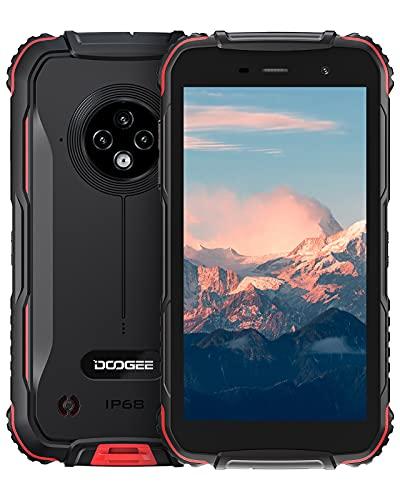 Rugged Smartphone 2021, DOOGEE S35 Cellulare Antiurto IP68 con 13MP Triplicare Fotocamera, 5.0 Pollici HD+, 4350mAh Batteria, 2GB+16GB(256GB Expandable), 4G Dual SIM Android 10 Telefono Robusto
