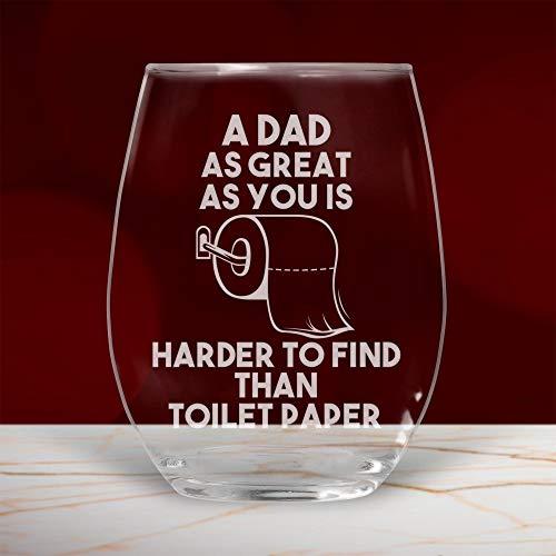 Vaso de vino para papá, con diseño de cuarentena, regalo divertido para cumpleaños, ideal como regalo de hija, hijo, día del padre, copa de vino de 11 onzas