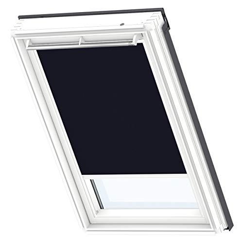 VELUX Original-Verdunkelungsrollo (DKL) Dachfenster, Weiße Seitenschienen FK06, Uni Dunkelblau