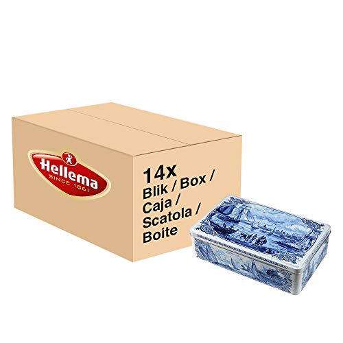 Hellema Gewürz Spekulatius Kekse in Dose Großpackung - Packung mit 14 Stück 415g Blechdose