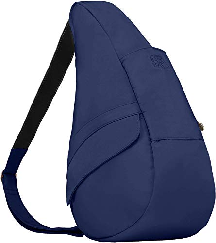 AmeriBag Medium Classic Microfiber Healthy Back Bag, Navy