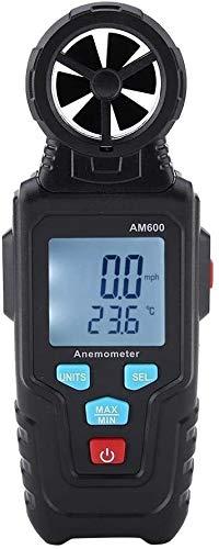 XINGDONG Termómetro Digital Anemómetro AM600 Medidor de calibrador de Velocidad del Viento con LCD retroiluminado Portátil