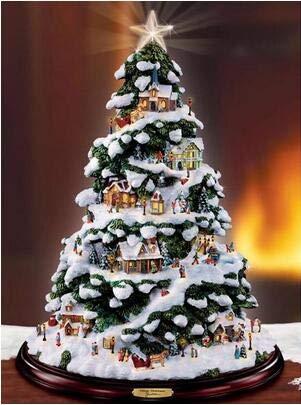 YHZSML 5D DIY Diamante Accesorios de Pintura Árbol de Navidad Diamante Bordado Punto de Cruz Taladros Cuadrados completos Niños Regalo Decoración de la habitación Sin Marco 50x40cm