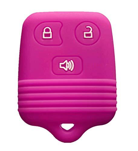 Rpkey Silicone Keyless Entry Remote Control Key Fob Cover Case protector Replacement Fit For Ford Lincoln Mercury Mazda CWTWB1U331 GQ43VT11T CWTWB1U345 8L3Z15K601B 8L-3Z-15K-601B(Violet)
