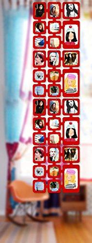 Trendfinding 1,63 m Set Fotos Bilder Raumteiler Rahmen Collage Fotowand Kartenwand Fotovorhang Fototaschen Fotogalerie Kunststoff Fotohalter Rot