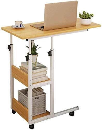 Permanente del escritorio del ordenador portátil con ruedas Escritorio Mesa lateral equipo portátil con cajones de almacenamiento de escritorio de Ministerio del Interior Mesa for espacios pequeños DA