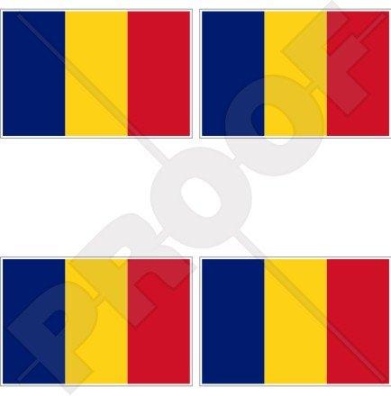 Tschad Flagge tschadischer die Afrika 5,1cm (50mm) Vinyl bumper-helmet Sticker, Aufkleber X4