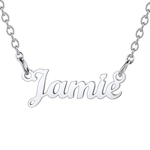 U7 Named Necklaces for Women Woman Necklace Jamie