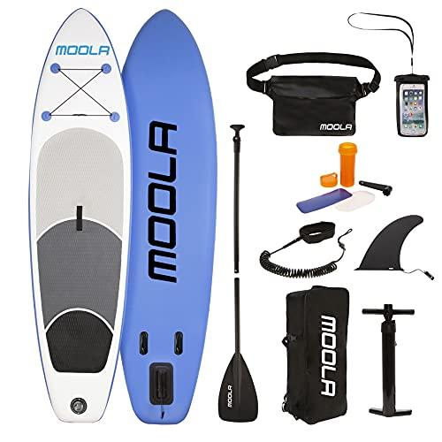 MOOLA España Tabla Paddle Surf Hinchable Adultos con Kit de Accesorios. Doble Capa