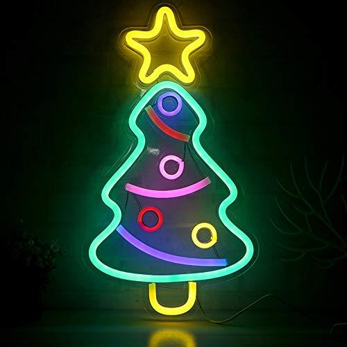ABTSICA Luces de neón LED, Good Vibes Letreros de neón Arte de Pared Luz de Noche Decorativa para Pared de habitación Dormitorio de niños Cumpleaños Fiesta de Navidad Bar USB [Clase energética A],C
