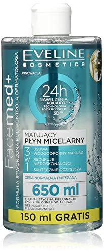 Eveline Cosmetics Liquide Micellaire 3 en 1 mattifiant Facemed 650 ml