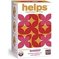 HELPS INFUSIONES - Infusión Digestiva Con Anis Verde, Manzanilla, Menta Y Stevia Natural. Helps Digest. Caja De 16 Bolsitas.