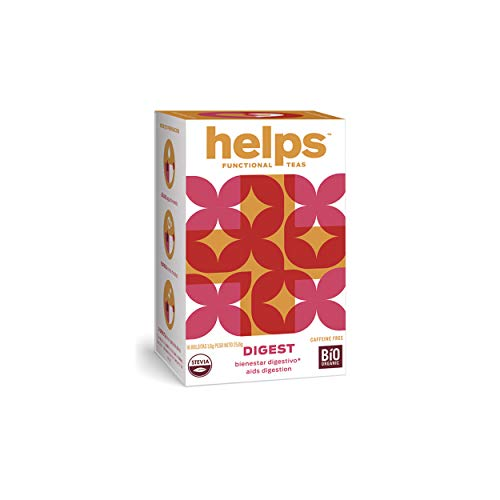 HELPS INFUSIONES - Infusion Digestiva Con Anis Verde, Manzanilla, Menta Y Stevia Natural. Helps Digest. Caja De 16 Bolsitas.