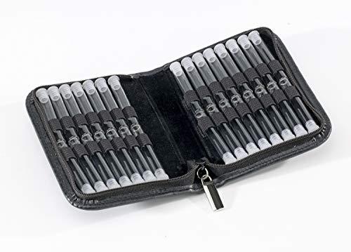 Homöopathie Taschenapotheke Klassik mit 30 Klargläsern Leder schwarz für Globuli