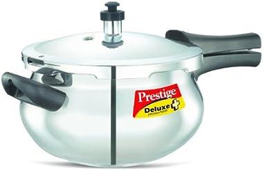 Prestige Deluxe Stainless Steel Handi Cooker, 4.5 Liters