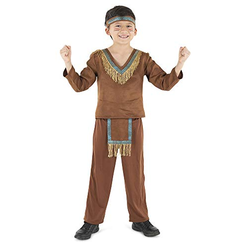 Dress Up America Indian Boy Costume - Product Comes Complete with: Shirt, Pants and Headpiece (Small)