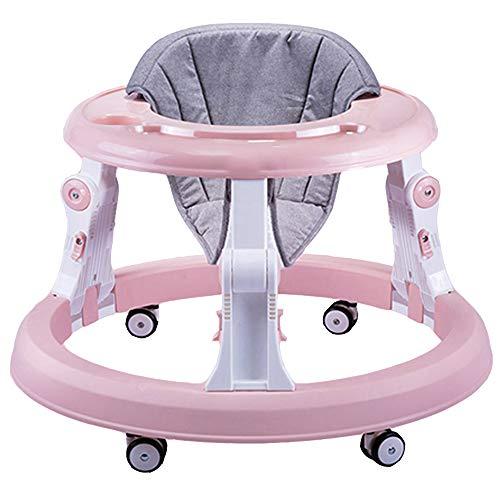 FLWVDFG Andador Bebés, Andador De Actividad Plegable Ajustable En Altura, Andador De Actividad para Bebé con Asiento Acolchado De Respaldo Alto,Púrpura