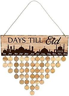 Bechamel Best Design Muslim Eid Mubarak Wood Countdown Calendar Ornament Ramadan Remind, Advent Calendar Drawer - Advent Calendar Wood, in Collectibles, Advent Calendar Drawers, Wooden Advent Box