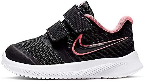 Nike Star Runner 2 (TDV), Running Shoe Unisex niños, Negro (Black/Sunset Pulse/Black/White 002), 17 EU