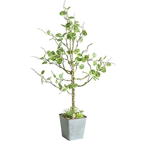 LXX Árboles 2 pies Plantas Artificiales Pequeñas Plantas en Maceta Faux árbol vegetación Plantas Interior al Aire Libre decoración Plantas (Color : Green, tamaño : 65cm)