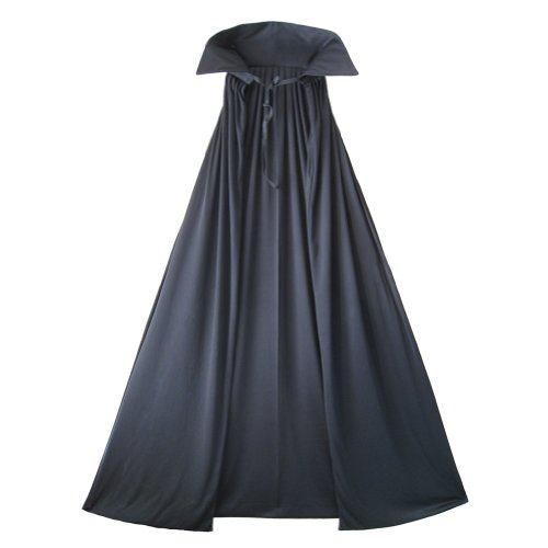 """54"""" Fully Lined Deluxe Black Cape - Halloween Adult Costume Cape Party Dress Up"""