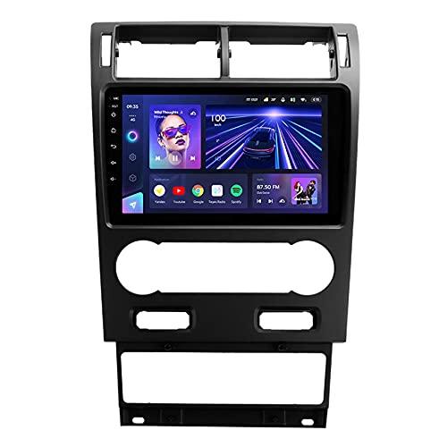 ADMLZQQ CC3 Car Radio Stereo Lettore per Ford Mondeo 3 2000-2007 GPS Navigazione Lettore DSP RDS Controllo del Volante 4G Vivavoce Bluetooth Rear View Fotocamera,8core 4g+wif: 3+ 32g