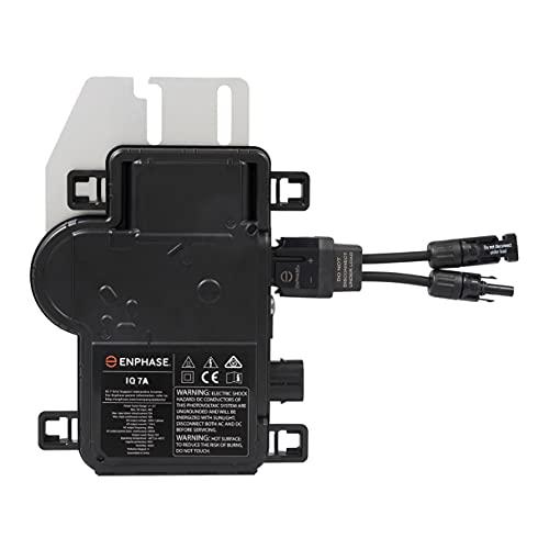 ENPHASE Microinversor IQ7A con cable MC4 incluido   Compatible con módulos de 60 y 72 células o 120 y 144 células partidas. Micro Inversor solar de potencia para paneles solares fotovoltaicos.