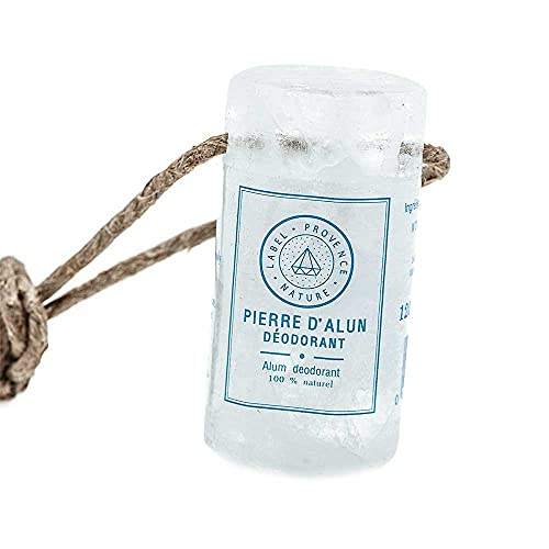 Label Provence - French Alum Stone Deodorant on a Rope - 100% Natural Vegan...