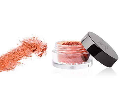 Beauty Is Life Lidschatten Glitzer Pulver Pigment Diamond Sparkle Rot Kaminrot Koralle Ohne Parabene...