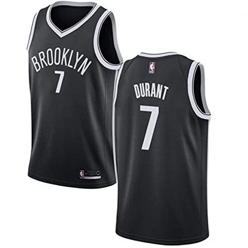 JFIOSD NBA Hombre Jersey,Brooklyn Nets n#7 Durant Ropa de Baloncesto,Camisetas Al Aire Libre Casual Mujer Redondo CháNdales,a,M