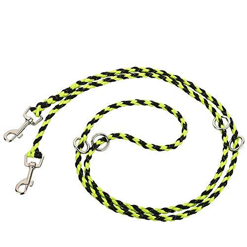 Golden Pets Paracord Hundeleine I 2m, 4-Fach verstellbar I reflektierend, extrem leicht & robust I geflochtene hochwertige Führleine I kleine - große Hunde I + Gratis E-Book