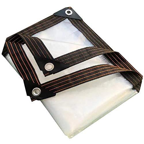 YCSD Lonas Transparentes Resistente Al Agua con Ojales De Metal, para La Cubierta del Patio del Porche, El Dosel O El Camping Al Aire Libre, A Prueba De Lluvia O De Sol(Size:3X4m)