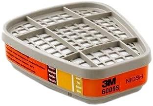 3M Safety 142-6009S Mercury Vapor/Chlorine/Sulfur Dioxide Gas Cartridge (Pack of 2)