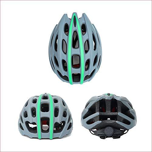 U/D Montar Bicicleta Integrado Mate Casco Casco de Hombres y Mujeres Adultos Transpirable Casco Confortable (Color : Gris)