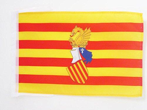 AZ FLAG Bandera del Consejo del PAÍS Valenciano 45x30cm - BANDERINA Antigua Comunidad Valenciana - Valencia 30 x 45 cm cordeles
