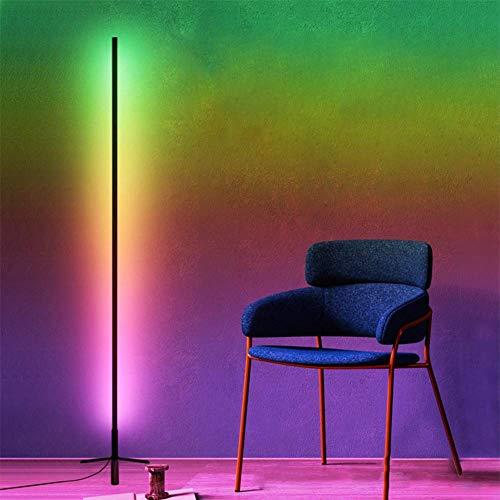 WLGQ Lámpara de pie LED Luces de pie Que cambian de Color Luces Decorativas de Interior Regulables con Control Remoto Ideal para Fiestas, restaurantes, Salas de Estar, dormitorios