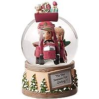 Precious Moments TIS The Season for Giving Musical Snow Globe