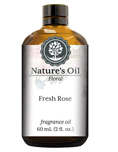 Fresh Rose Fragrance Oil (60ml) For Diffusers, Soap Making, Candles, Lotion, Home Scents, Linen Spray, Bath Bombs, Slime