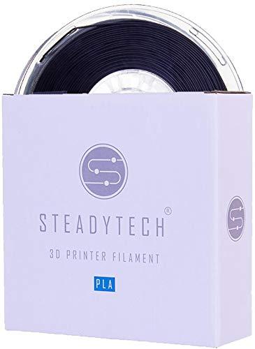 Black Steadytech 1.75mm PLA 3D Printer Filament (1KG), Steadytech Premium PLA, 1KG, 1.75mm Diameter, Vacuum Sealed