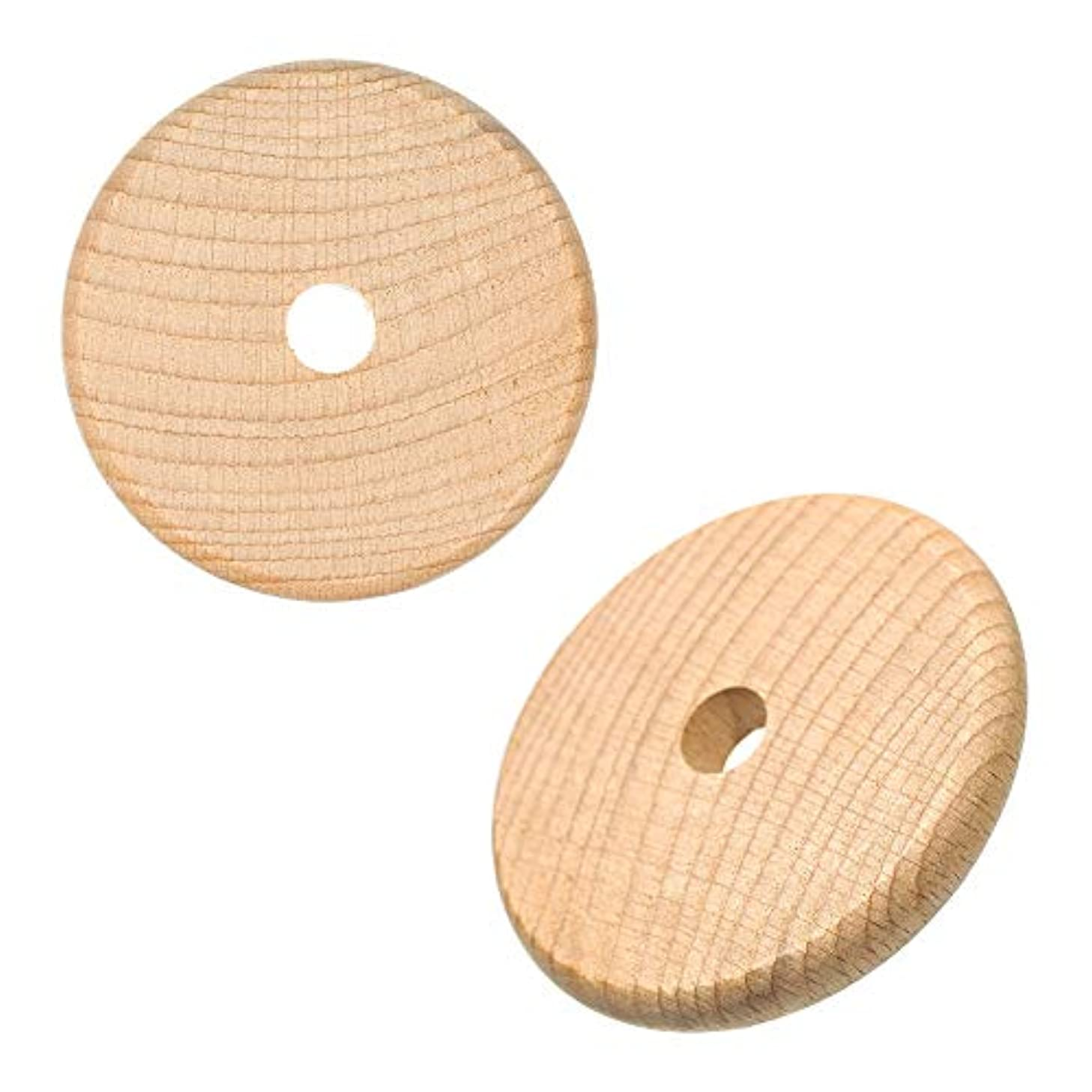 Paracord Planet Wood Disc Bead (Natural) – 3 Inches – 5, 10, 25, 50, and 100 Packs – Jewelry Tags DIY