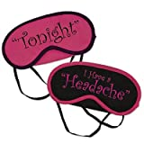 Pink & Black Honeymoon Mood Sleep Masks Set Of 2