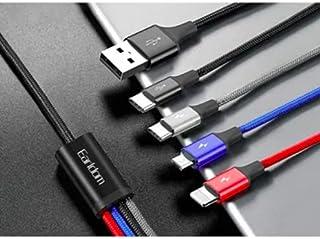 Earldom 4-In-1 Charging Cable 1200millimeter BLACK EC-IMC023